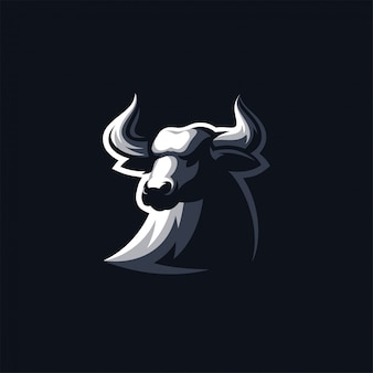 Ilustración de vector de diseño de logotipo de bull listo para usar
