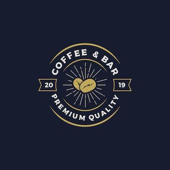 Ilustración de vector de diseño de logotipo de café y bar