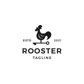 Ilustración de vector de diseño de logotipo de gallo