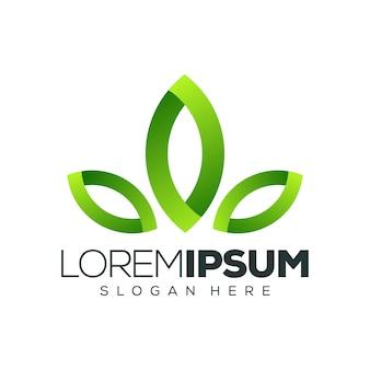 Ilustración de vector de diseño de logotipo de hoja