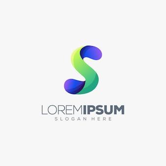 Ilustración de vector de diseño de logotipo letra s
