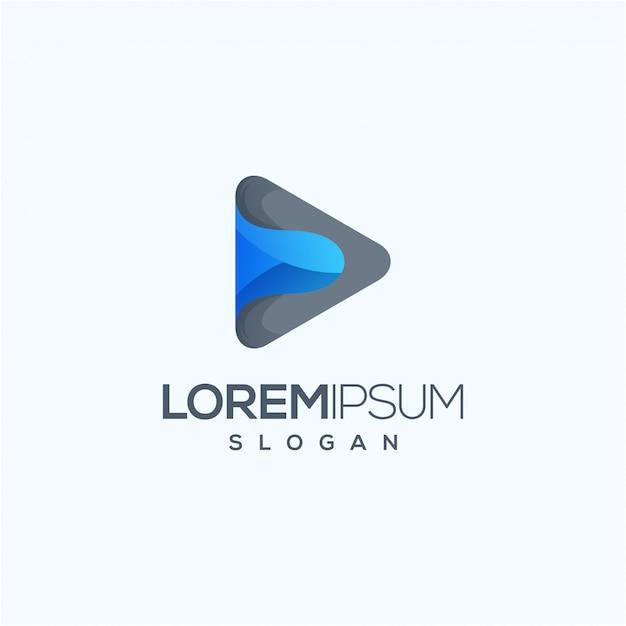 Ilustración de vector de diseño de logotipo de medios listo para usar