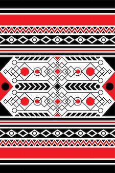 Ilustración de vector de diseño moderno de patrones sin fisuras de tela geométrica