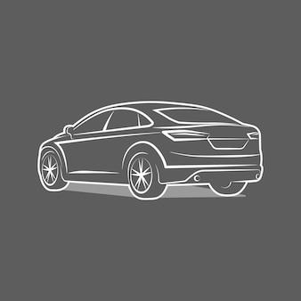 Ilustración de vector de diseño de plantilla de emblema de icono de logotipo de coche