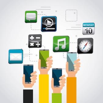 Ilustración de vector de diseño de tienda de aplicaciones