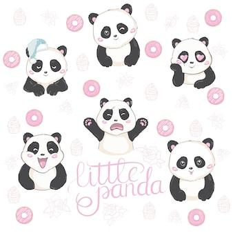 Ilustración de vector de emoji panda.