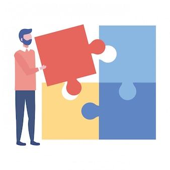 Ilustración de vector de empresario avatar dibujos animados diseño