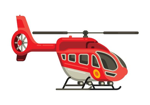 Ilustración de vector de estilo plano de helicóptero