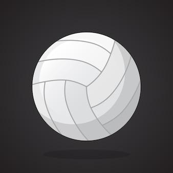 Ilustración de vector de estilo plano pelota de voleibol de cuero equipamiento deportivo
