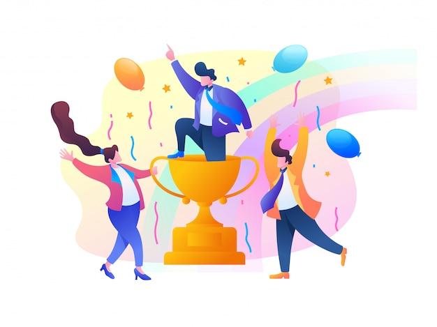 Ilustración de vector de éxito