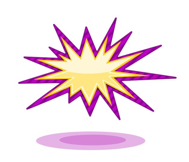 Ilustración de vector de explosión en blanco