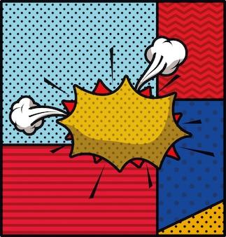 Ilustración de vector de expresión de estilo pop art