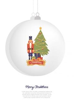Ilustración de vector. feliz navidad tarjeta de felicitación.