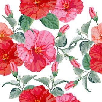 Ilustración de vector floral de patrones sin fisuras