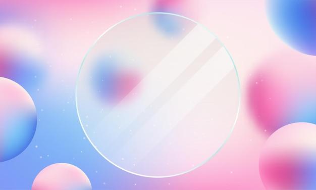Ilustración de vector de fondo abstracto de color suave