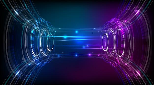 Ilustración de vector de fondo abstracto de tecnología