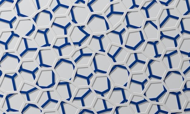 Ilustración de vector de fondo de capa superpuesta de línea geométrica azul y blanca abstracta