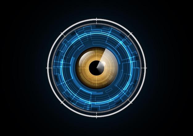 Ilustración de vector de fondo de círculo de seguridad de radar de ojo futuro abstracto tecnología