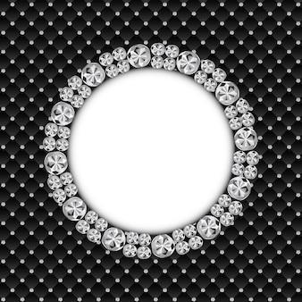 Ilustración de vector de fondo de diamante negro de lujo abstracto