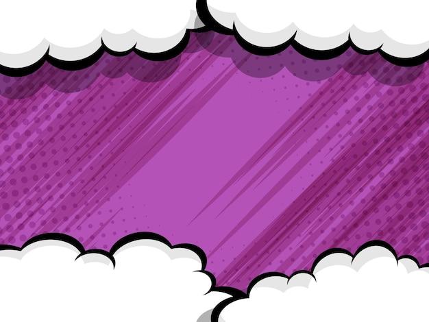Ilustración de vector de fondo de dibujos animados de arte pop abstracto cómic