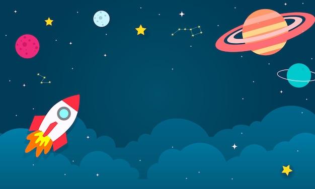 Ilustración de vector de fondo del espacio exterior.