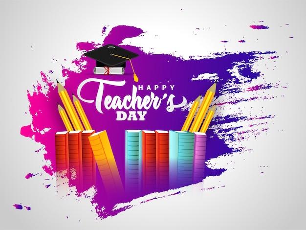 Ilustración de vector de fondo feliz día del maestro
