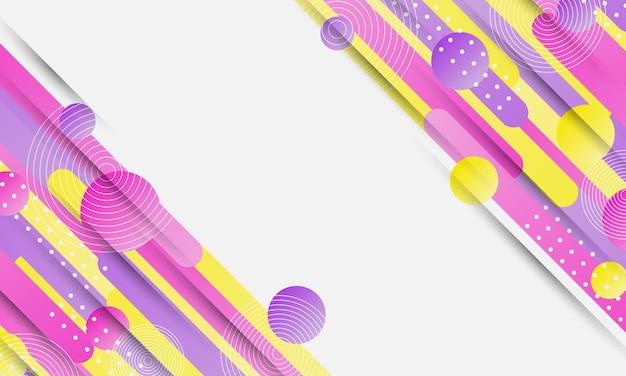Ilustración de vector de fondo de forma redondeada rosa y púrpura amarillo abstracto