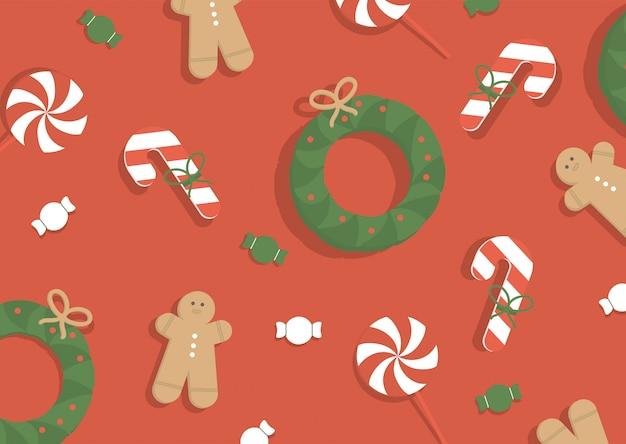 Ilustración de vector. fondo de navidad.