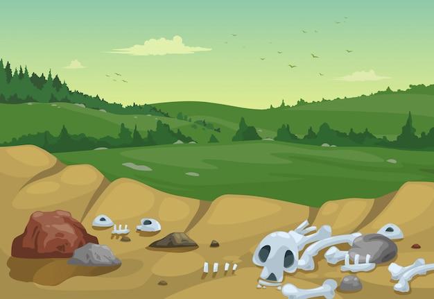 Ilustración del vector de fondo de paisaje de montañas