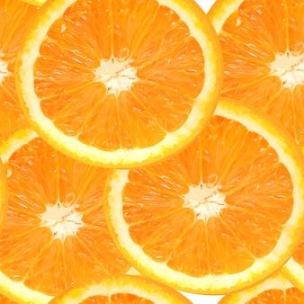 Ilustración de vector de fondo de patrones sin fisuras naranja jugosa fresca