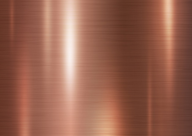Ilustración de vector de fondo de textura de metal de cobre