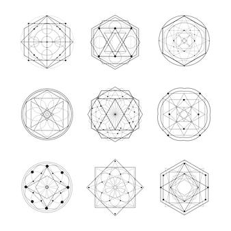 Ilustración de vector de forma de geometría sagrada