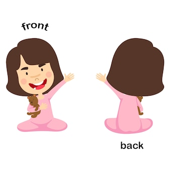 Ilustración de vector frontal y posterior opuesto