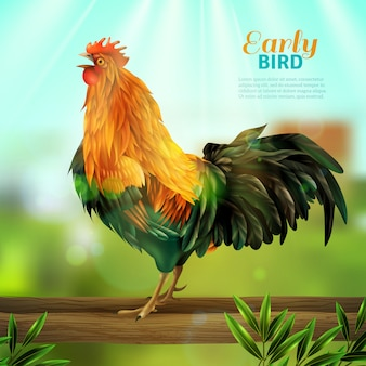 a8adb1ec53202 Ilustración vectorial de un gallo