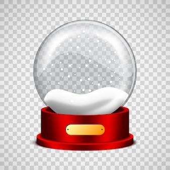 Ilustración de vector de globo de nieve de navidad