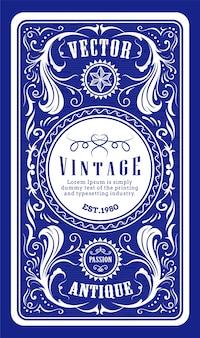 Ilustración de vector de grabado de etiqueta de marco vintage