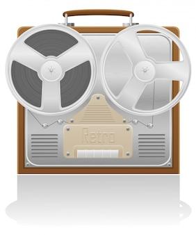 Ilustración de vector de grabadora antigua