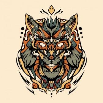 Ilustración de vector de guerrero ruba