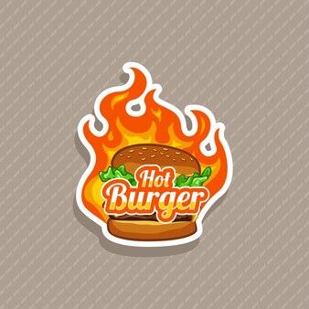 Ilustración de vector de hamburguesa caliente