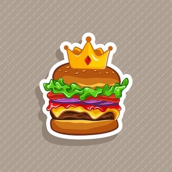 Ilustración de vector de hamburguesa