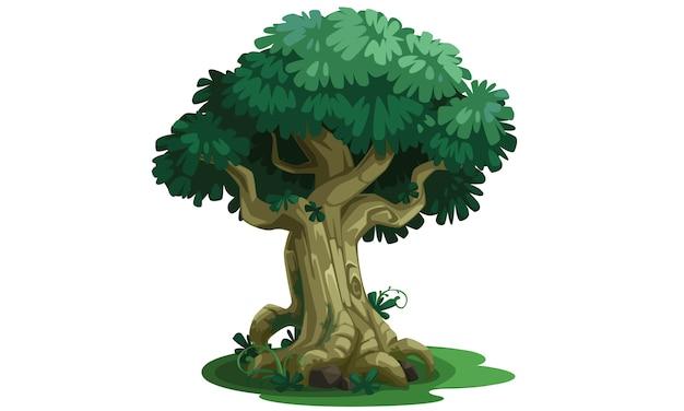 Ilustración de vector hermoso árbol