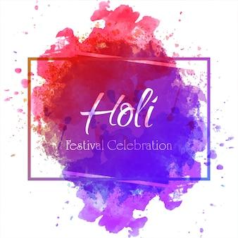 Ilustración de vector de holi feliz con gulal colorido