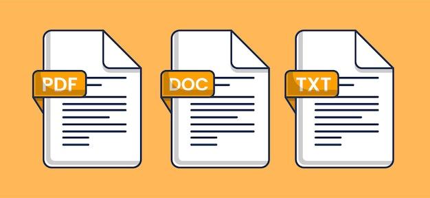 Ilustración de vector de icono de archivo de documento