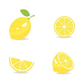 Ilustración de vector de icono de limón fresco