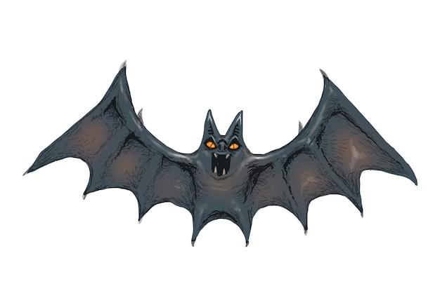 Ilustración de un vector de icono de murciélago para halloween