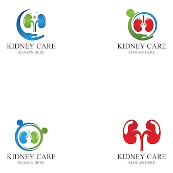 Ilustración de vector de icono y símbolo de cuidado de riñón