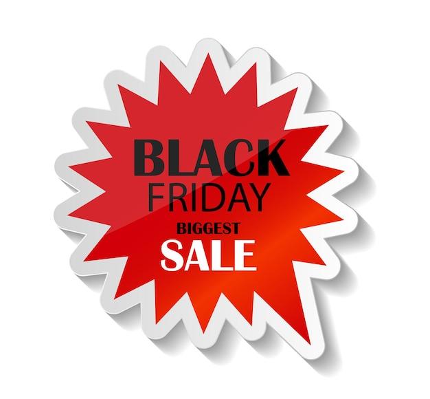 Ilustración de vector de icono de venta de viernes negro. eps10
