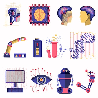 Ilustración de vector de inteligencia artificial