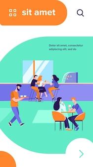 Ilustración de vector interior de cafetería