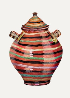 Ilustración de vector de jarra vintage, remezclada de la obra de arte de la colección de la galería nacional de arte